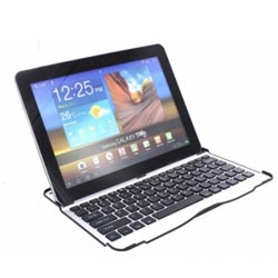 Hard case en bluetooth toetsenbord in één met de Galaxy tab keyboard case