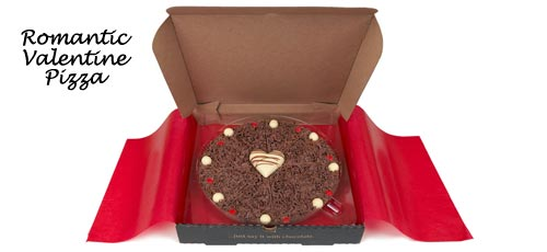 Romantic Valentine Chocolate Pizza