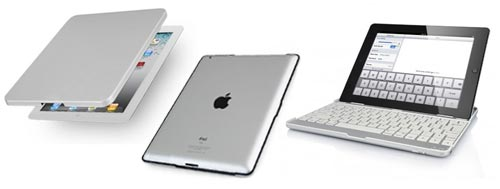 Funda teclado Bluetooth para iPad 2