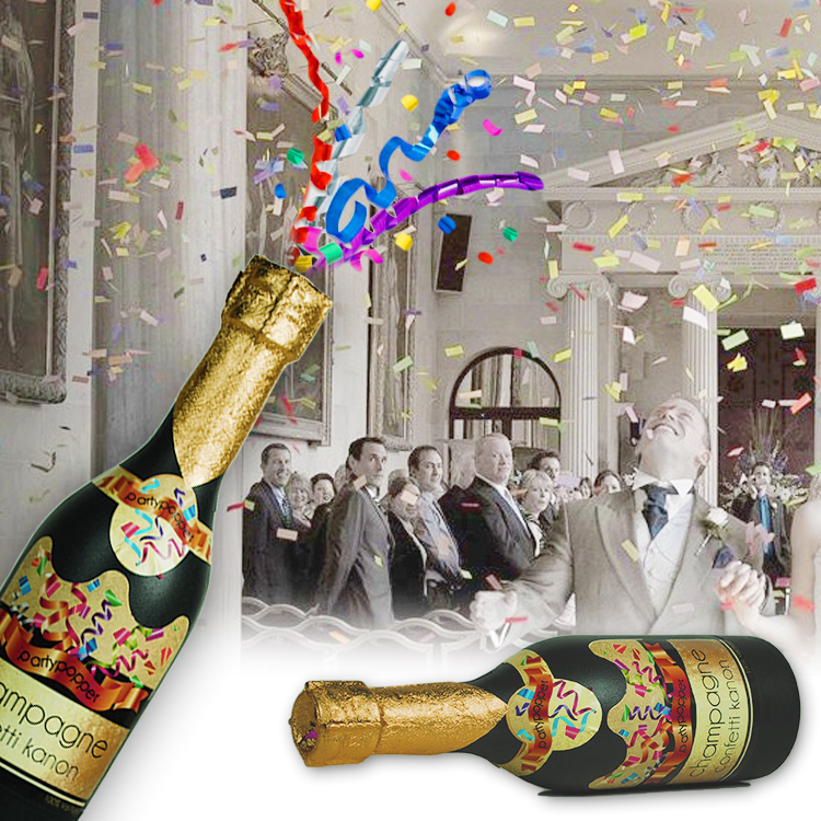 Champagnefles Confetti Shooter