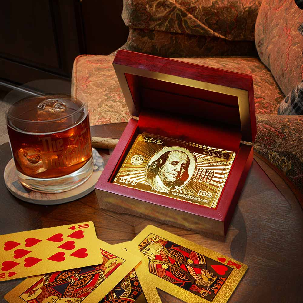 Gold Playing Cards + Cadeaubox