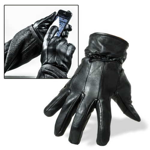 Leather Touch Gloves - Vrouw M