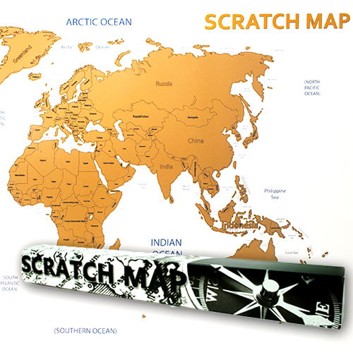 Scratch Map Rubbel Weltkarte