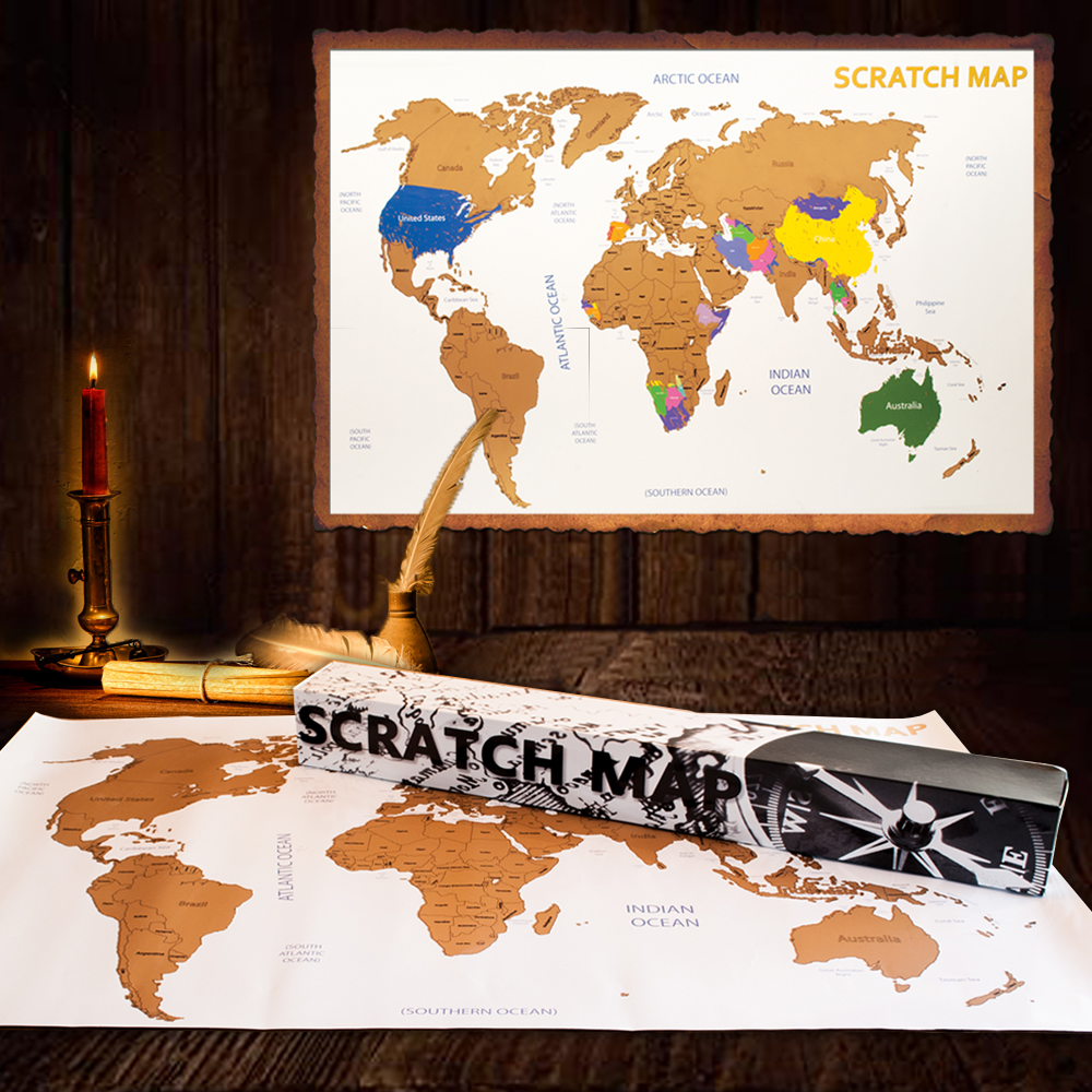 Scratch Map | Kras Wereldkaart