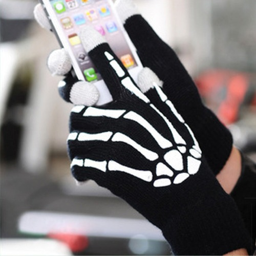 Touchscreen Gloves Skeleton