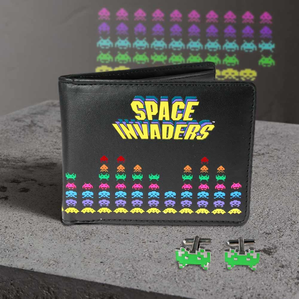Space Invaders portemonnee & manchetknopen