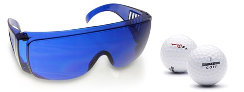 Mit der Golfball Finder Brille kannst du ganz leicht verloren gegangene Golfb&auml;lle aufsp&uuml;ren.