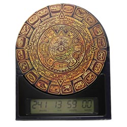 Die Maya Countdown Uhr zeigt dir wie viel Zeit du noch bis zum Weltuntergang hast.