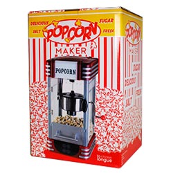Mit der Profi Popcorn Maschine im Retro Design stellst du herrlich frisches Popcorn her.