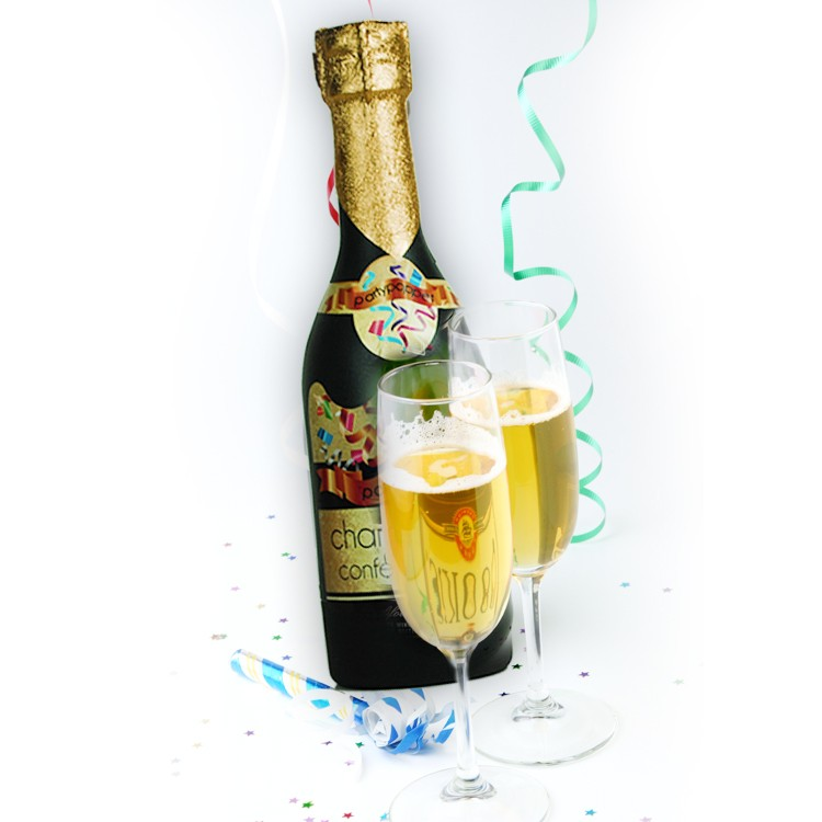 Champagnefles Confetti Shooter, party hard!
