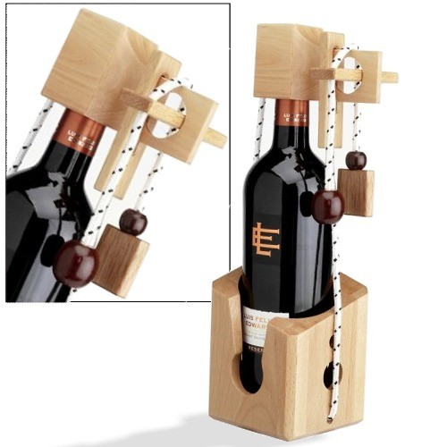Das Dont break the bottle Puzzle ist ein originelles Geschenk.
