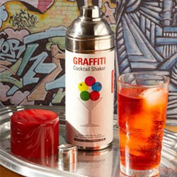 Graffiti cocktail shaker for Sur la table cocktail shaker