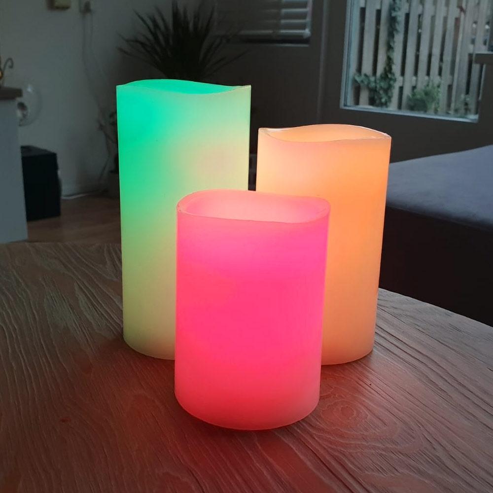 LED Kaarsen Gekleurd