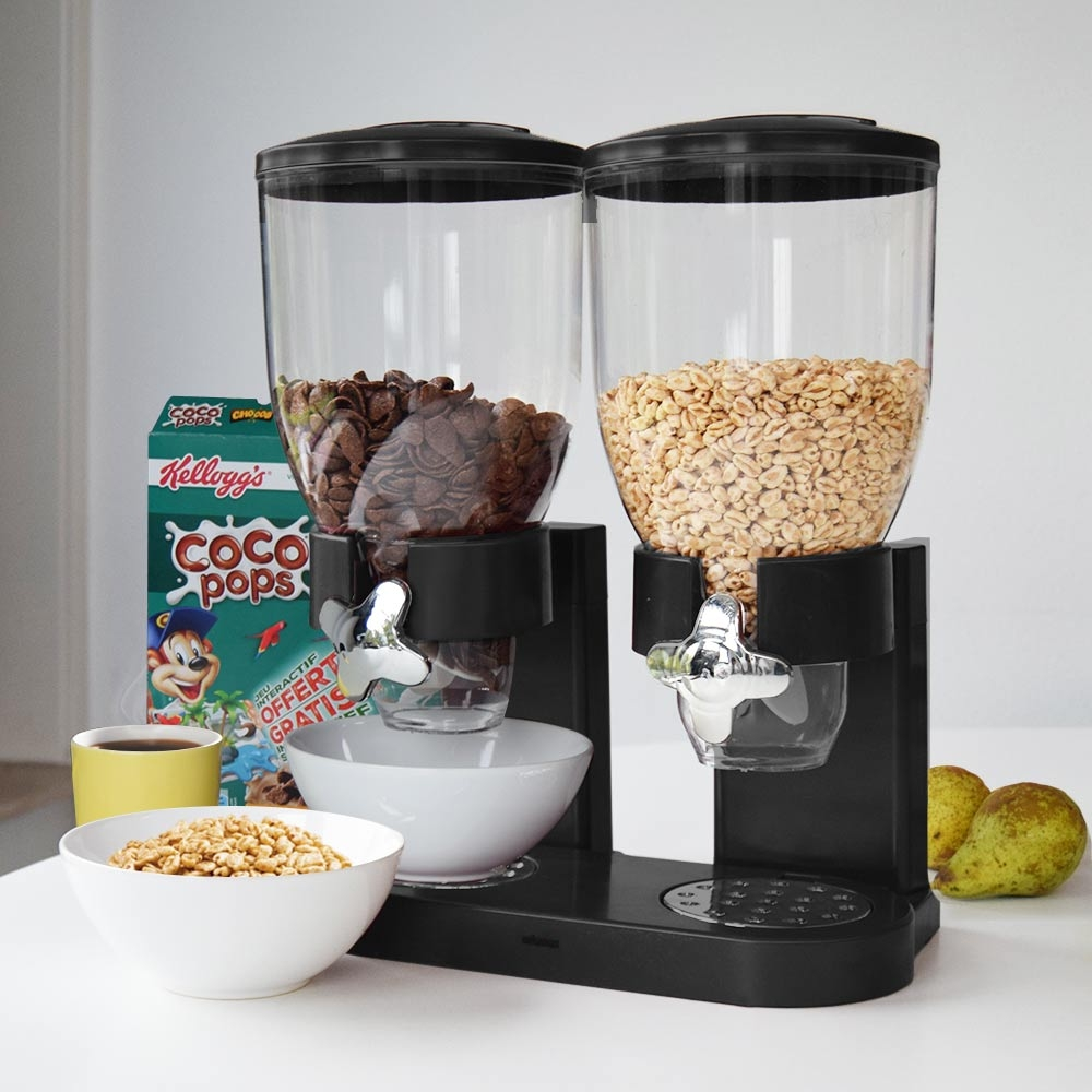 Cornflakes Dispenser - Zwart