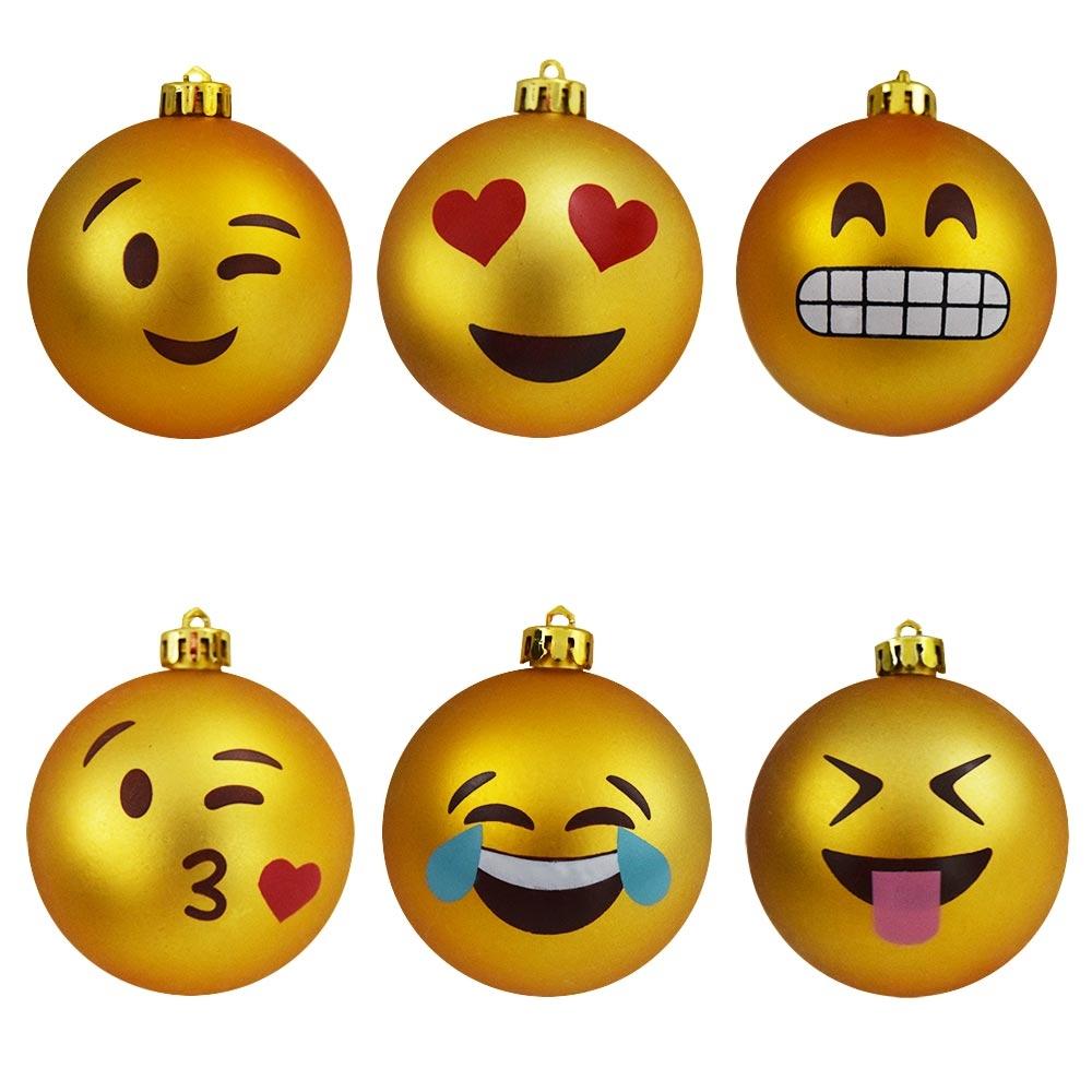 Vrolijke Emoji Kerstballen voor in jouw kerstboom!