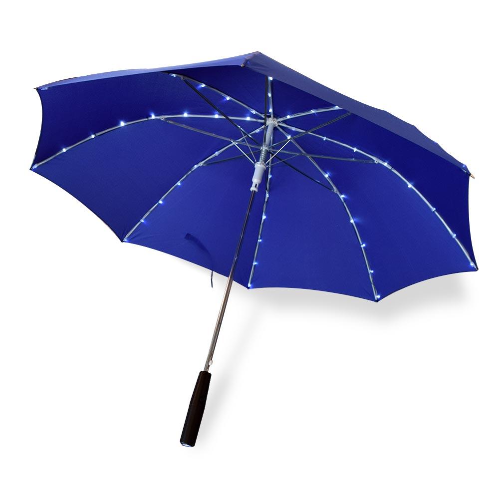 LED Paraplu - met deze geweldige paraplu heb je altijd licht in de regen