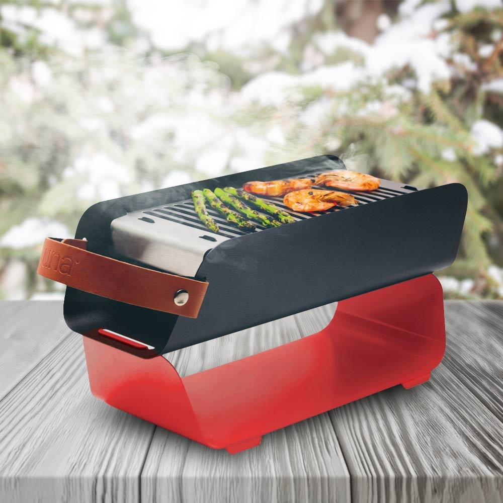 UNA Draagbare BBQ Grill-Turquoise