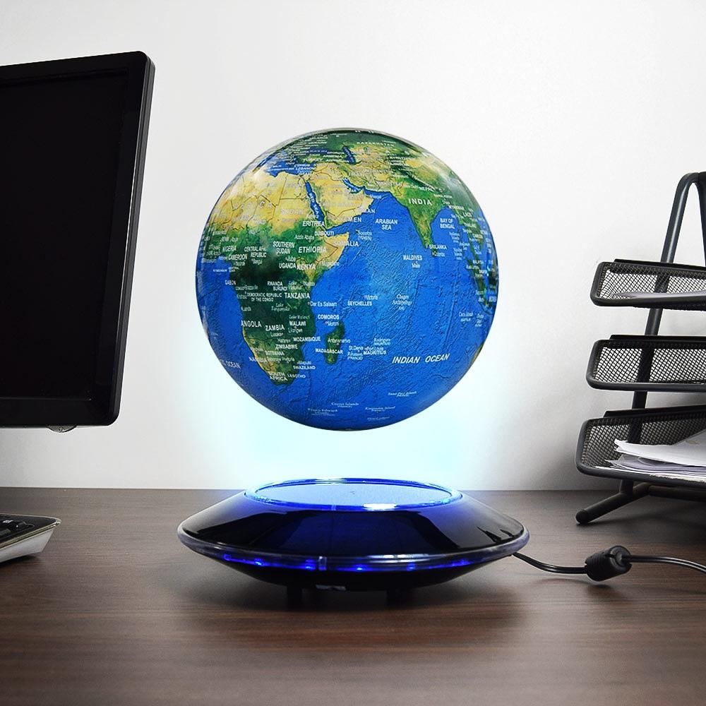 Zwevende Wereldbol - met LED verlichting