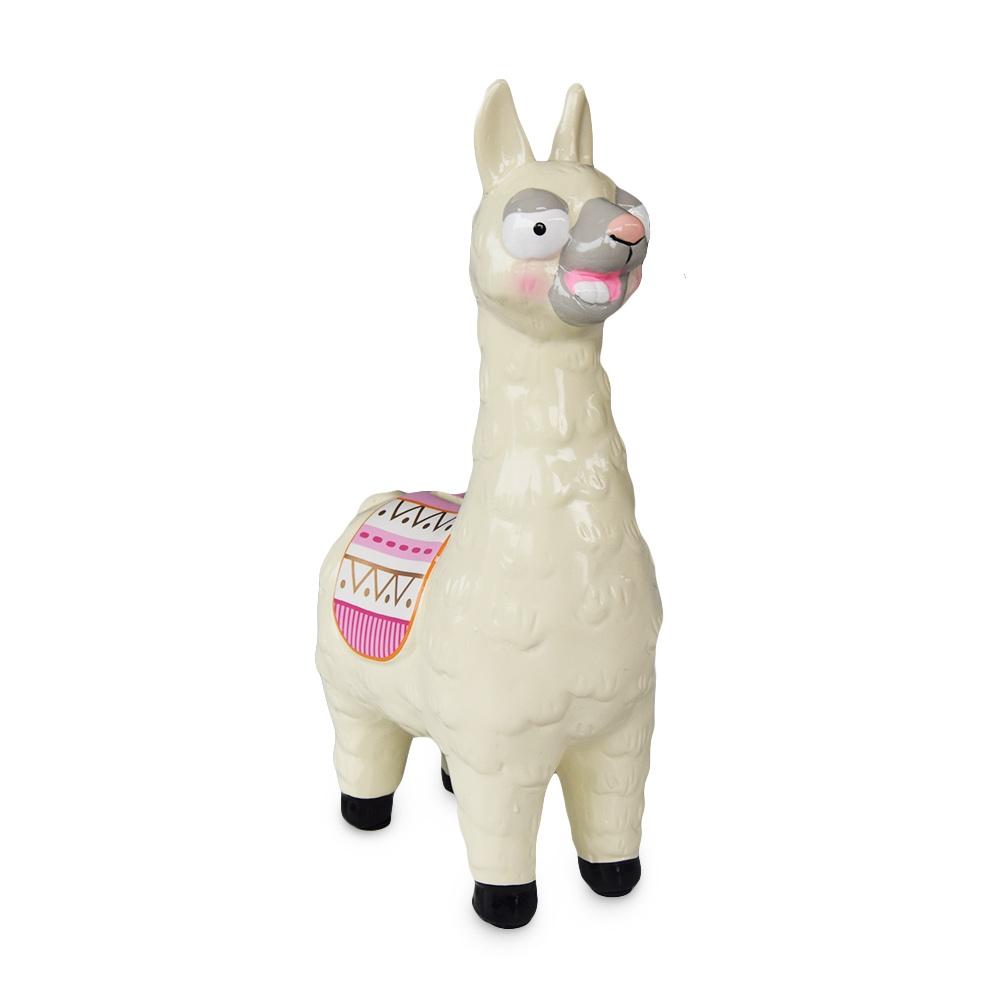 Deze trouwe Alpaca Spaarpot houdt al jouw zakgeld veilig opgeborgen.