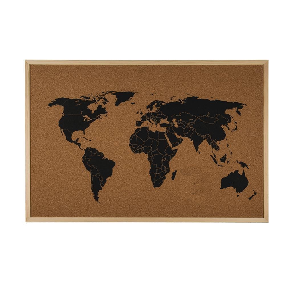 Wereldkaart Prikbord - Kurk | MegaGadgets