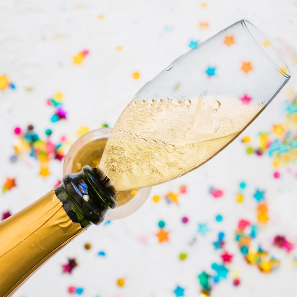Champagnefles Glas