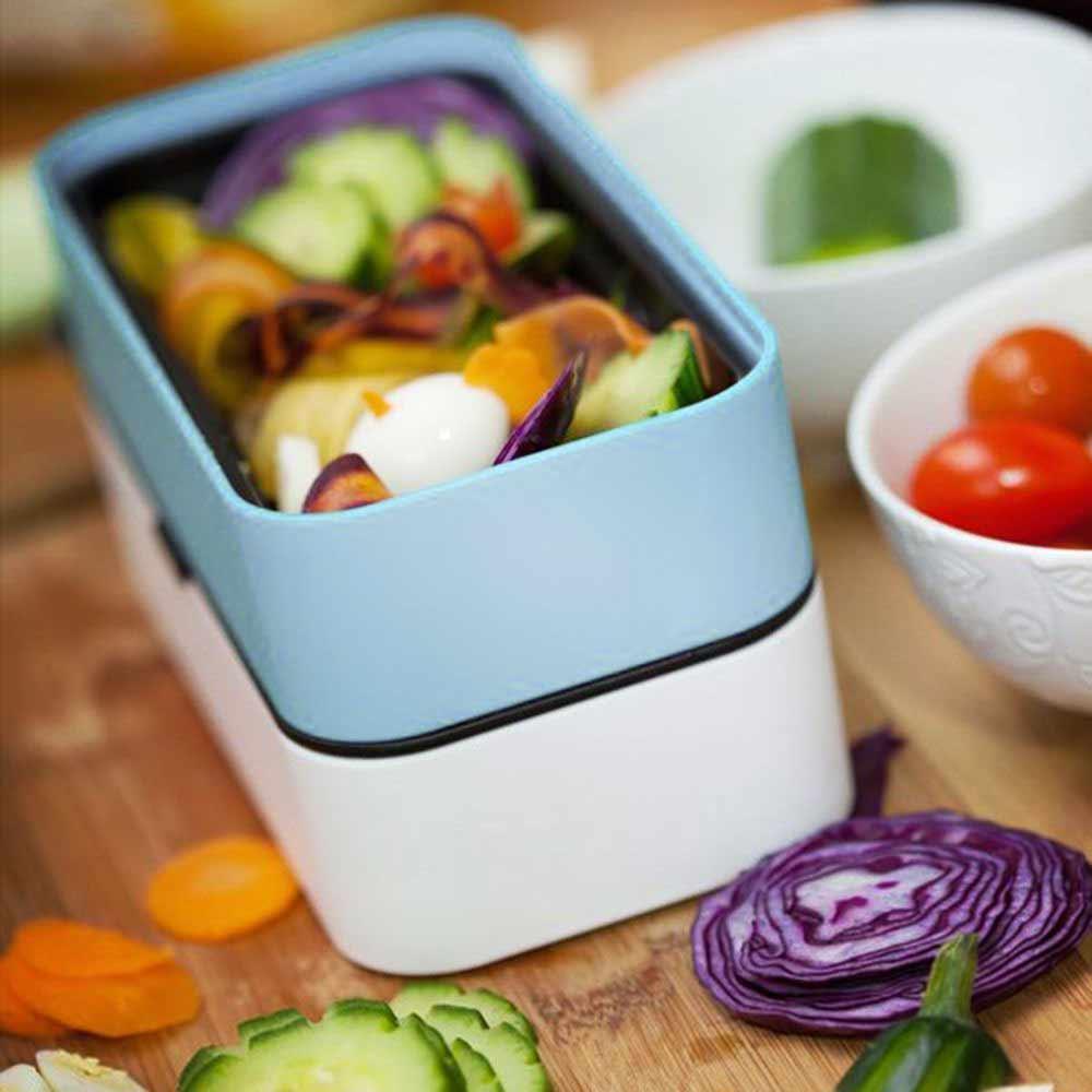 2 in 1 lunchbox met bestek | MegaGadgets