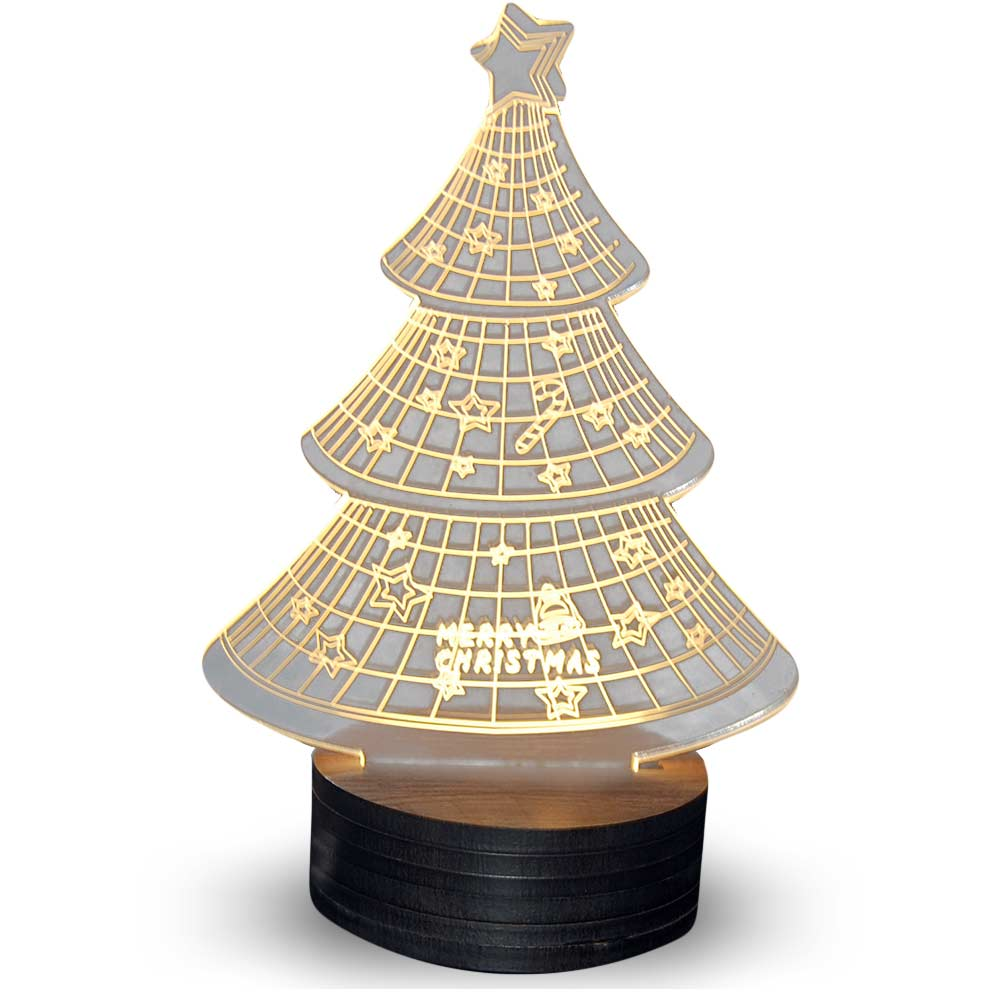 Kerstboom 3D illusie lamp
