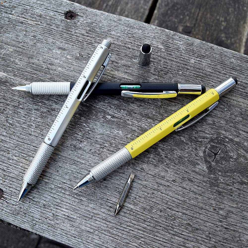 6-in-1 Multitool Pen - Zwart