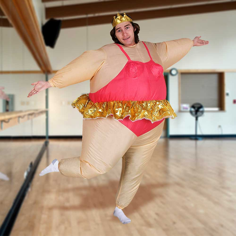 Opblaasbaar ballerina kostuum | Megagadgets.nl
