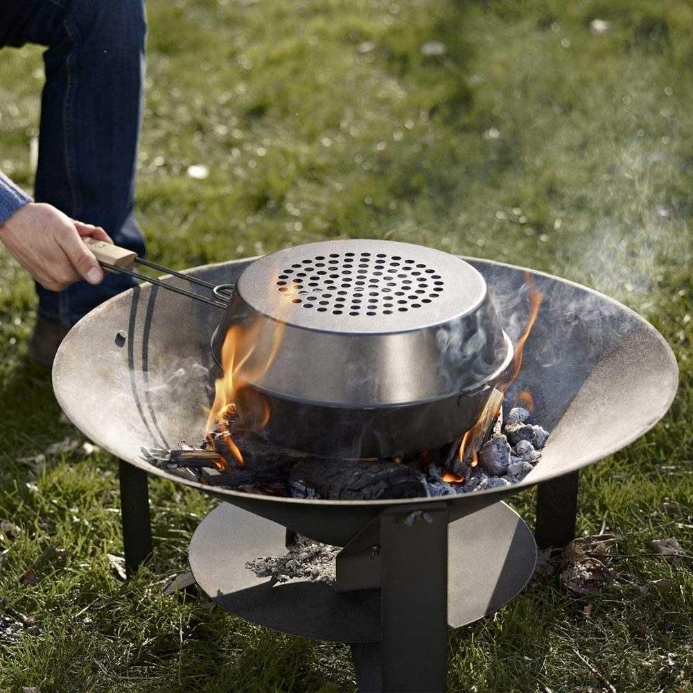 BBQ pan met deksel