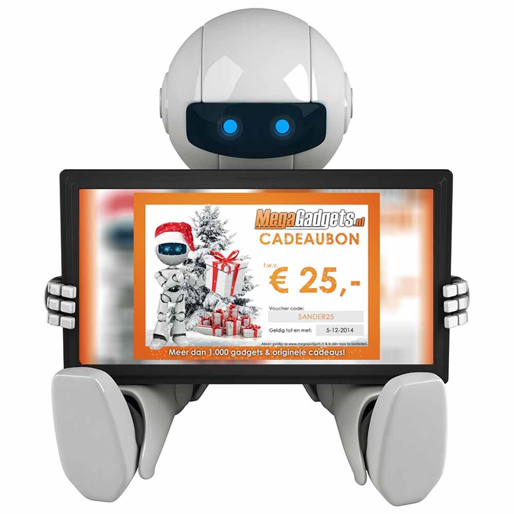 De Cadeaubon van MegaGadgets geeft keuze uit honderden gadgets en cadeaus!
