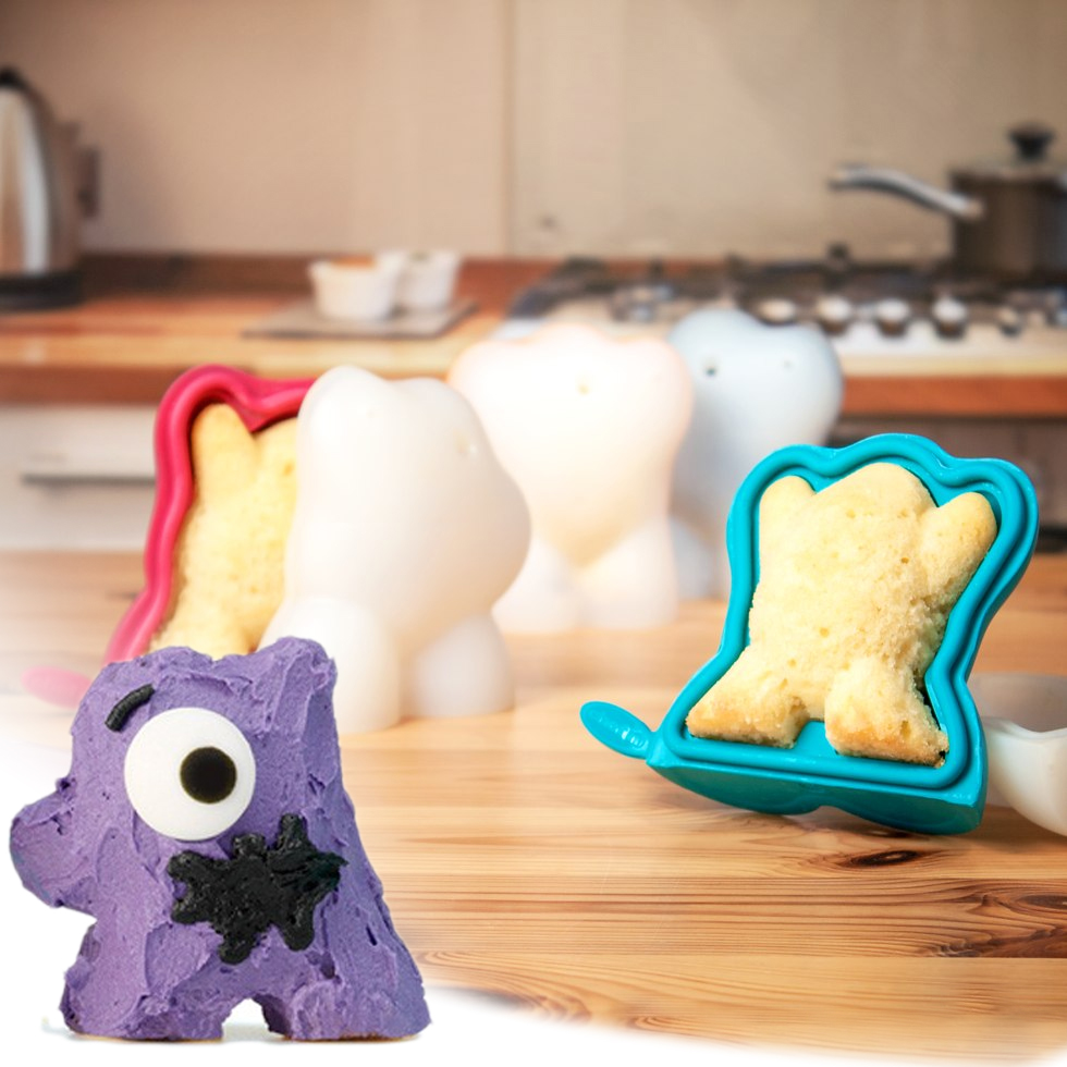 Cake Creature 3d - Cakevormen - Blauw