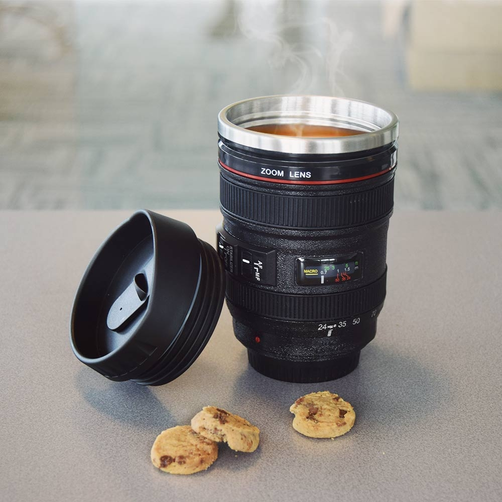 Image of Camera Lens Mug - Zwart