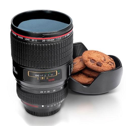Camera Lens Mug - Zwart
