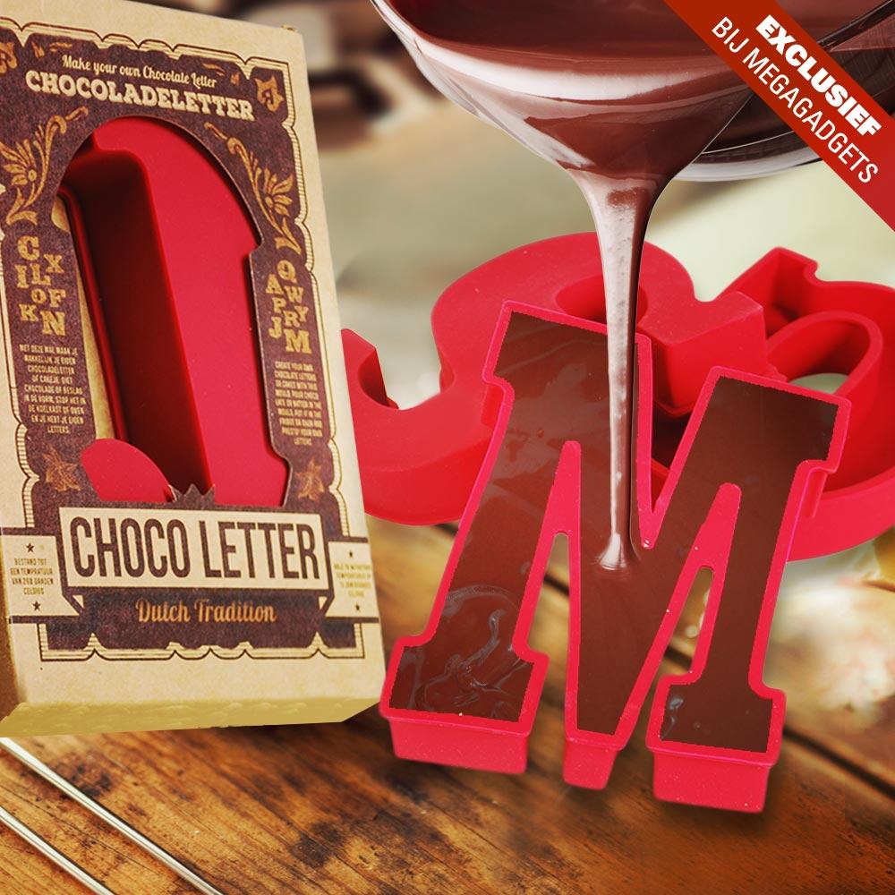 Chocoladeletter mallen - siliconen mal - D