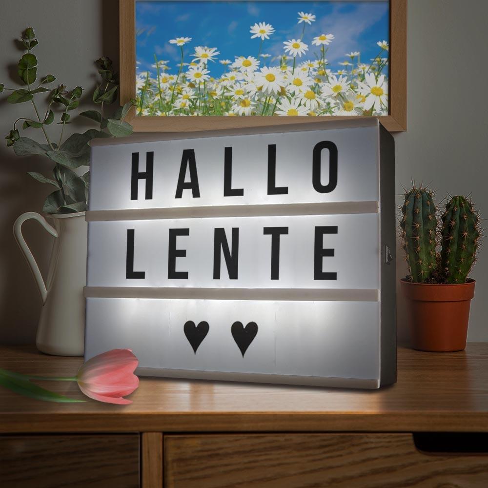 Image of Cinema LightBox A4 - incl. 84 Letters & Symbolen - Letterbord