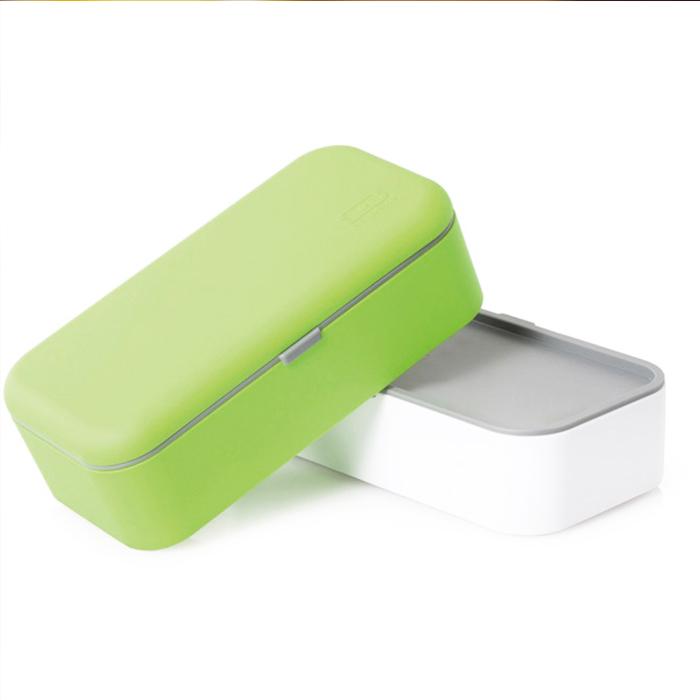 2 in 1 lunchbox met bestek - Groen