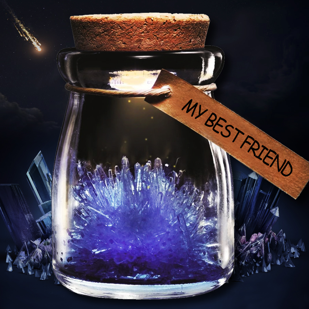 Crystal Wish Jar - Geel