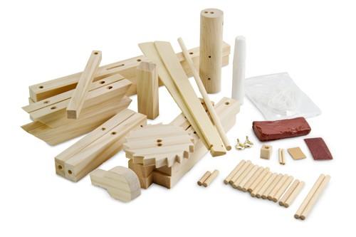 Da Vinci Catapult replica van echt hout