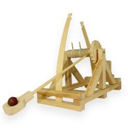 Da Vinci Catapult bouwpakket van echt hout