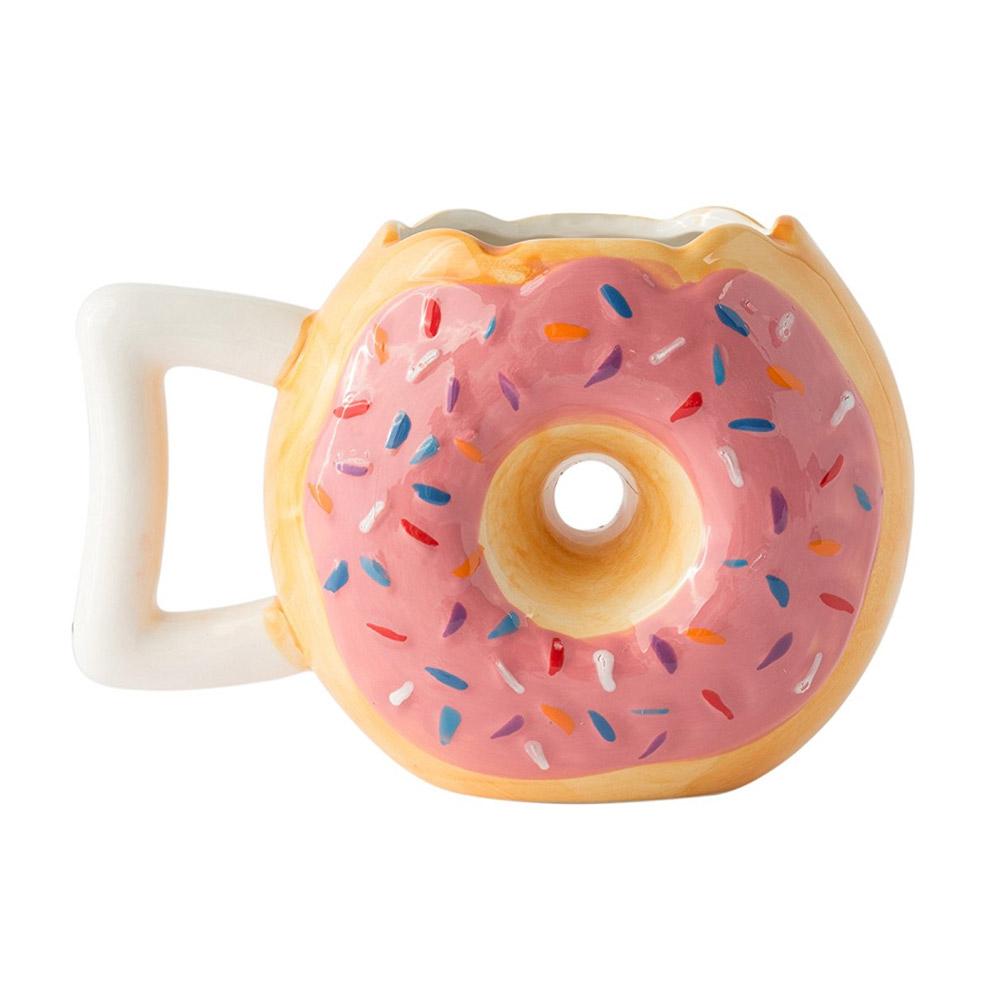 Super gave mok in de vorm van een donut