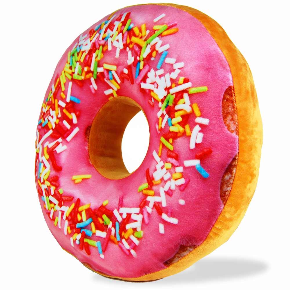 Donut Kussen - Roze