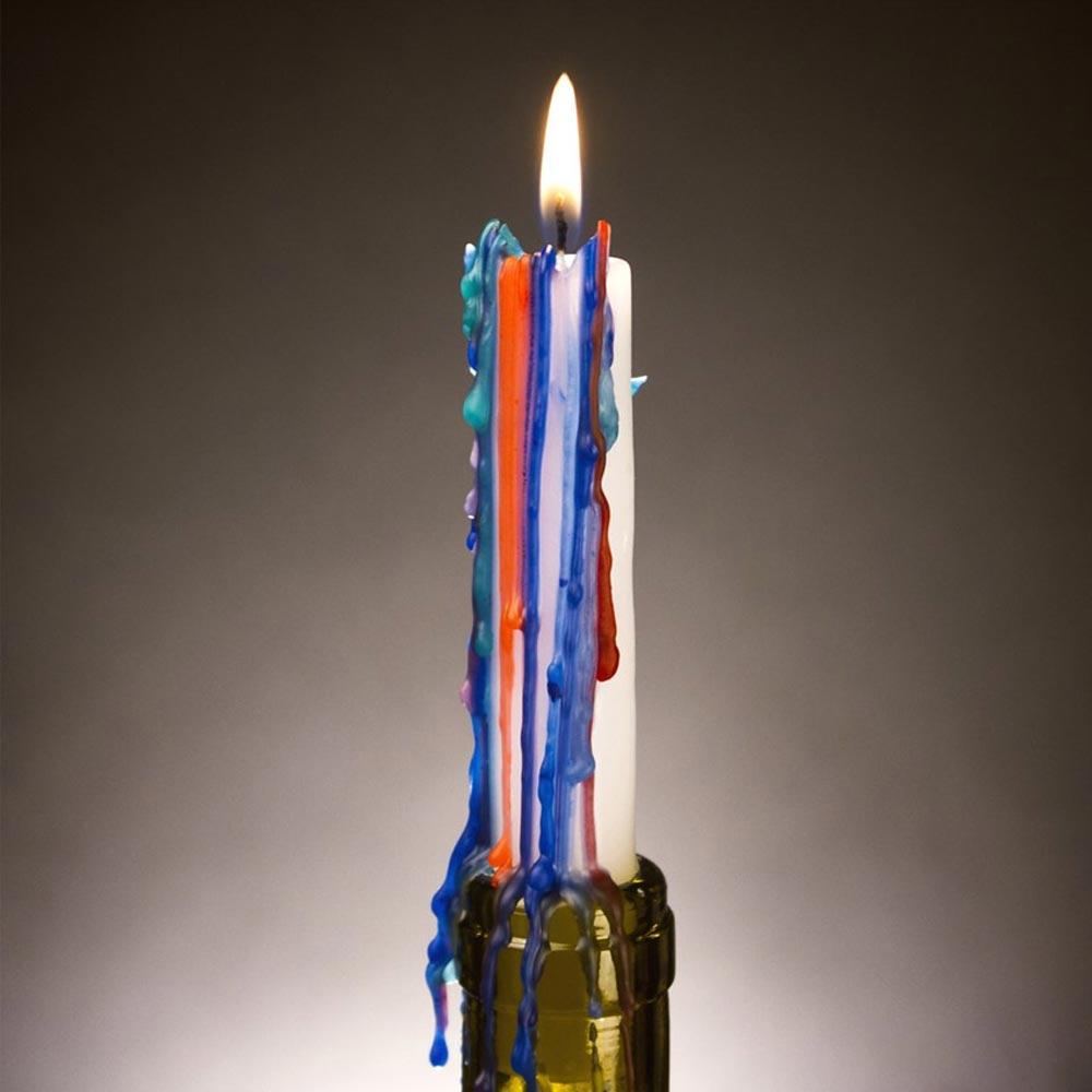 Multicolor kaarsen | Megagadgets.nl