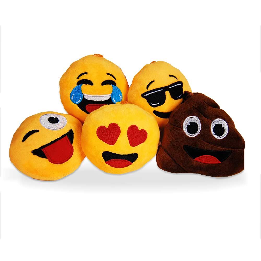 Super schattige pluche emoji kussens met geluid