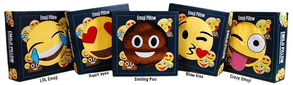 Emoji pillows in leuke cadeau doos