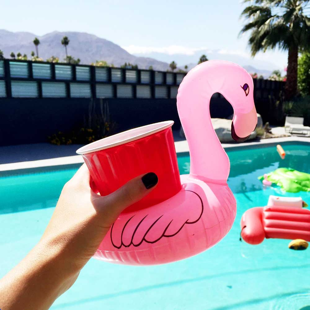 Opblaasbare Flamingo Bekerhouder | MegaGadgets