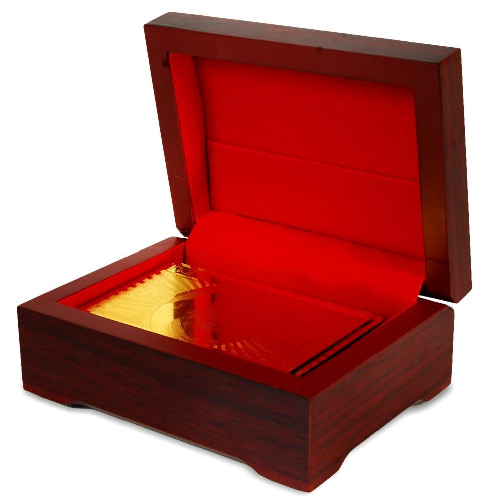 stijlvolle gouden kaartenset met chique cadeaubox