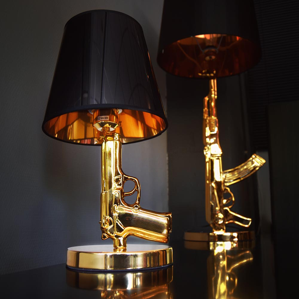 Golden Gun Lamp Replica | MegaGadgets