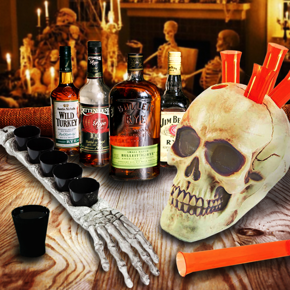 Griezelige Halloween Shotglazen - Doodshoofd