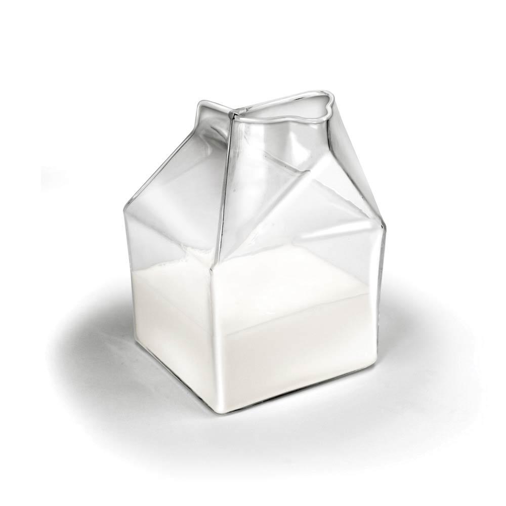 Half pint, glazen melkkan